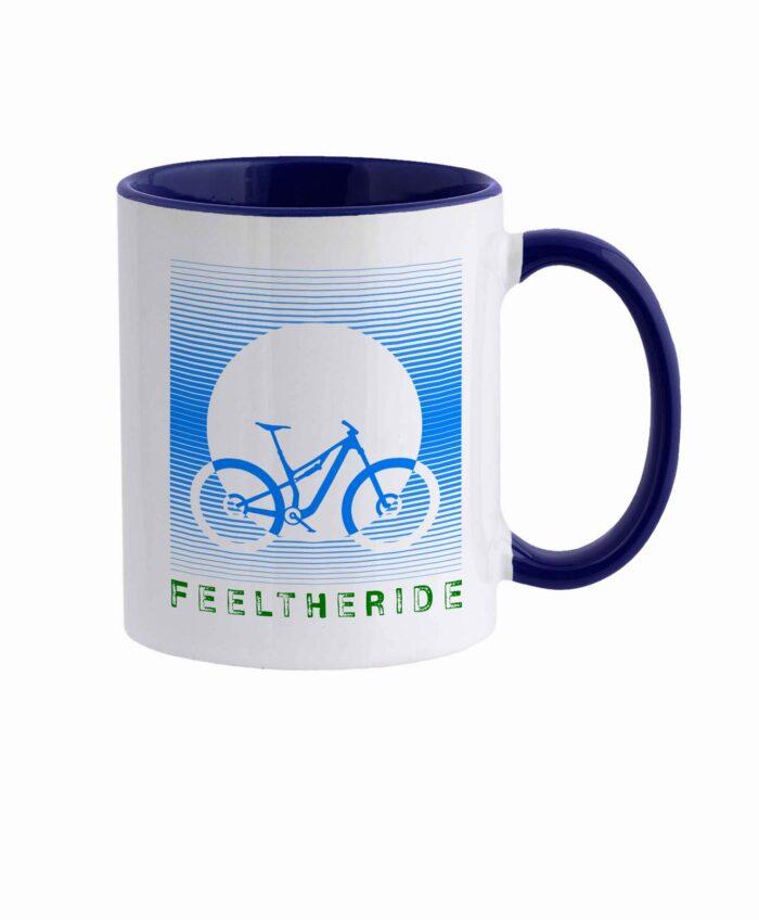Feel the ride with your bike Mug MTB Blue