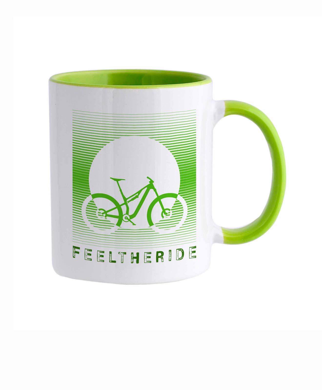 Feel the ride with your bike Mug MTB Green