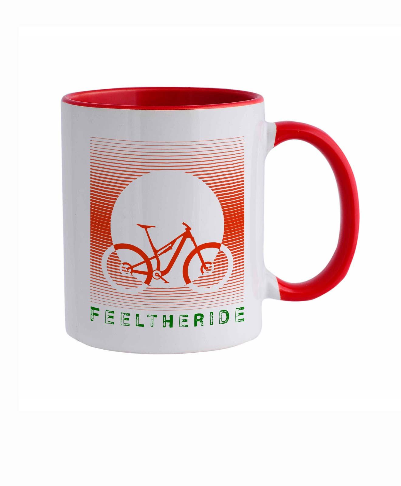 Feel the ride with your bike Mug MTB Red