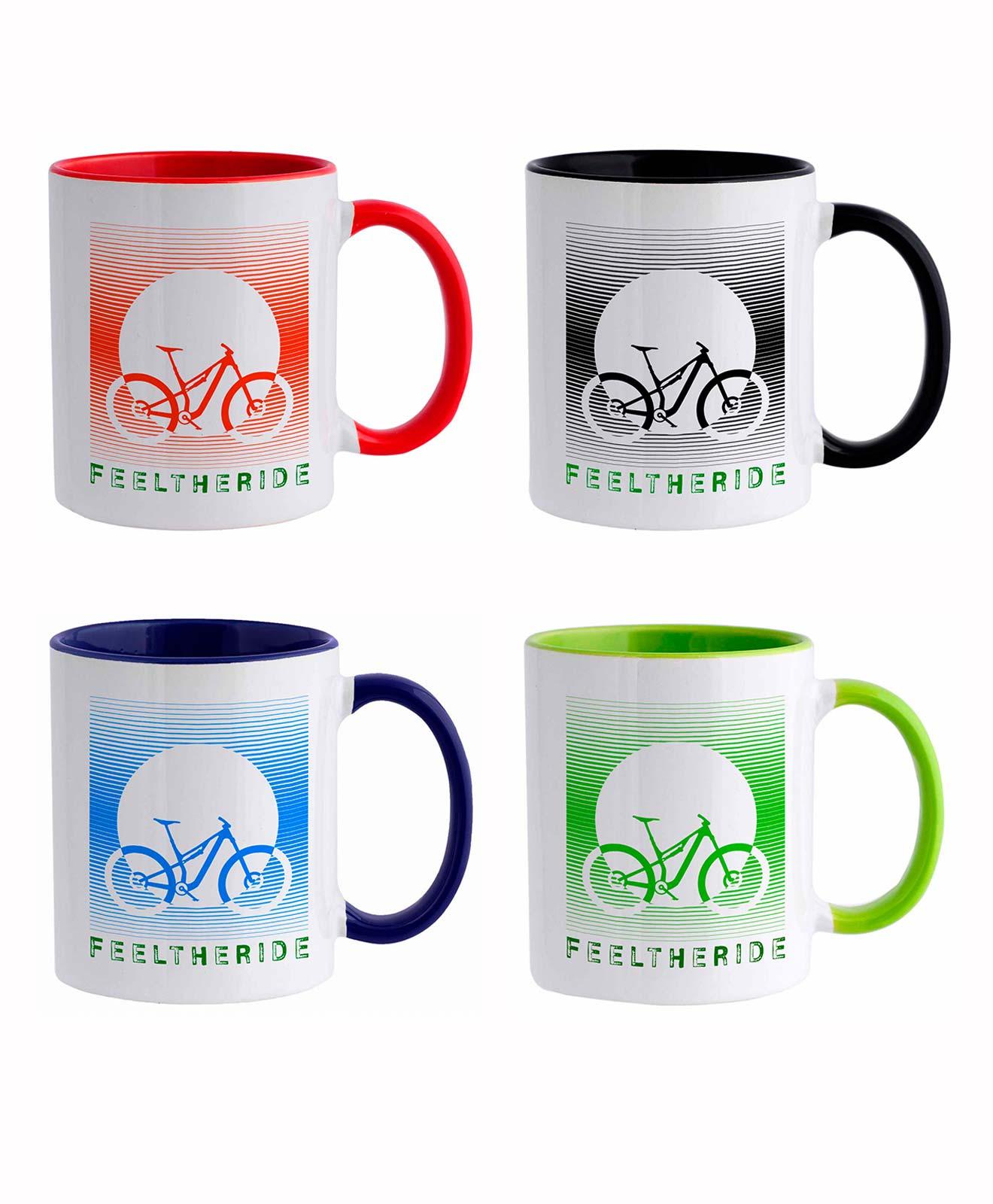 Feel the ride with your bike Mug MTB Set of 4