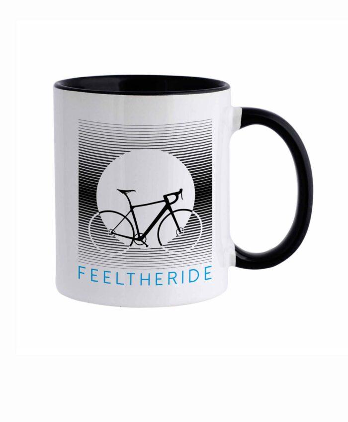 Feel the ride with your bike Mug road Black