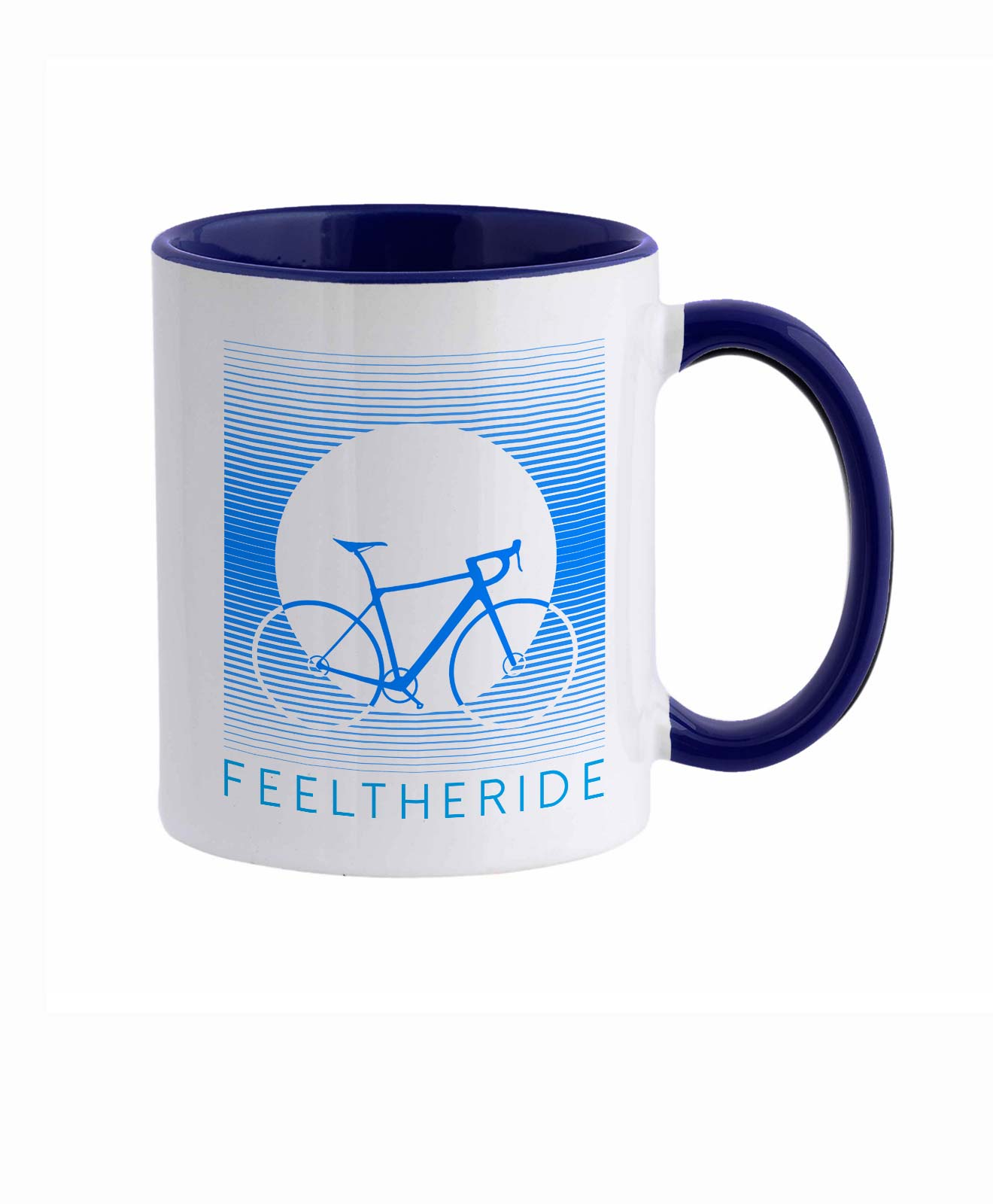 Feel the ride with your bike Mug road Blue