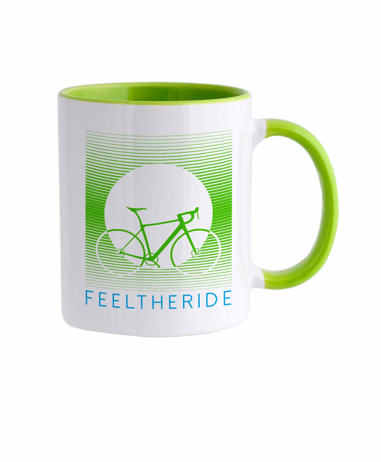 Feel the ride with your bike Mug road green