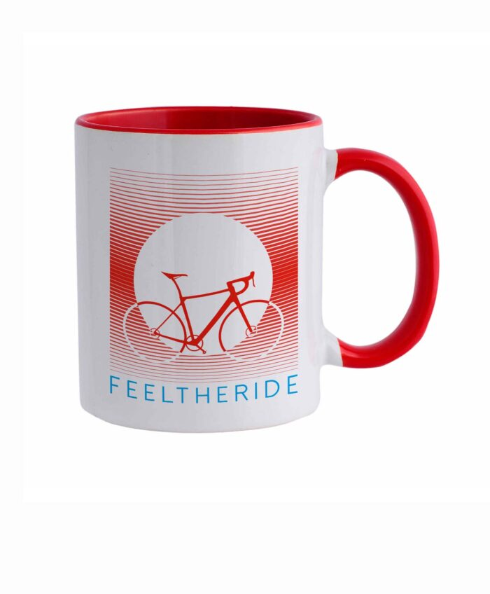 Feel the ride with your bike Mug road red