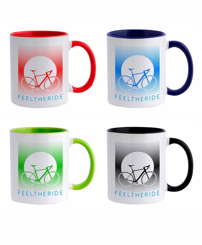 Feel the ride with your bike Mug set of 4