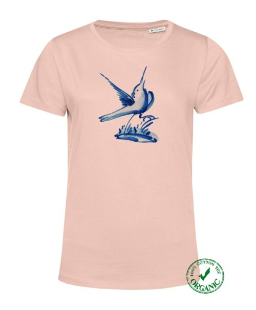 Blue Tile Women's Salmon T-shirt