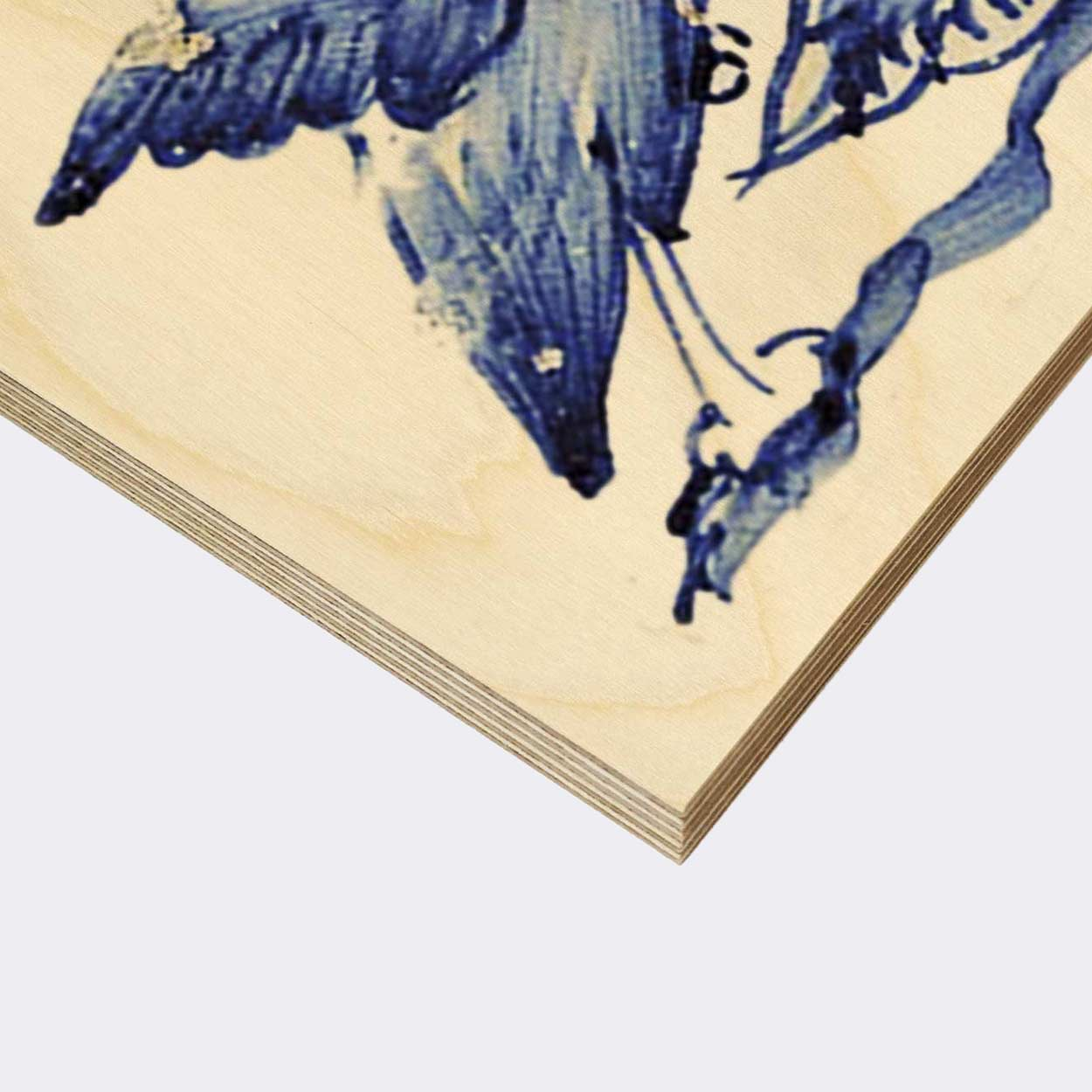 Blue Birds Wood Print