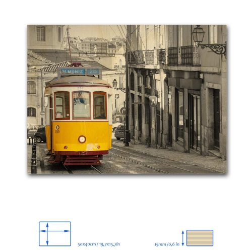 Lisbon Tram Wood Print