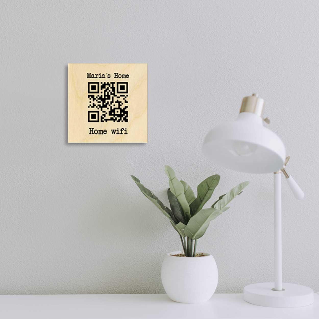 Home Wifi Wood Print